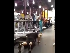 Funny Treadmill Fail for a hot Pawg in the Gym