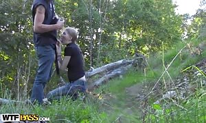 Evelina Juliet in aroused newbie gone insane screwing in a forest