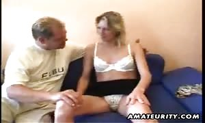 A very aroused blonde newbie German gf home-made hard-core action with face fuck, fuck and cumshot !