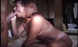 enjoying face-fuck and sex with his wifey