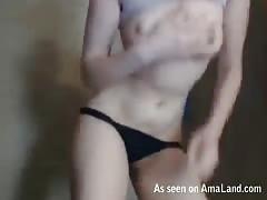 Pretty spicy amateur striptease by my hot ex-girlfriend