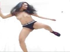 Crazy Colombian bounce & jiggle her boobs Cristynlara