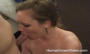 sleazy searching newcummer sensuously eats hard-on