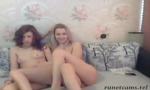 Two playful huge-boobed Russian sweethearts are posing totally undressed