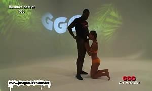 young Bukkake escort is the final sperm swallowing gadget