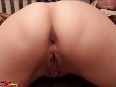 Girl with the long nails is stimulating her tight anal hole
