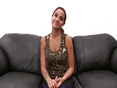 Astonishing big-breasted slut is being fucked in the scene by Backroom Casting Couch