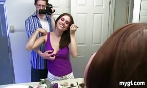 Self shots in the bathroom and after which