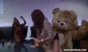 sexy Dancing Bear ramming big-breasted slut in the mouth