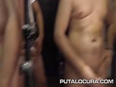 PUTA LOCURA Hot Busty 18 YO Teens in Amateur Bukkake