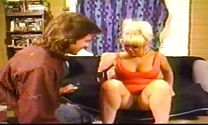 blond old is being pounded in her little pussy in the bedroom