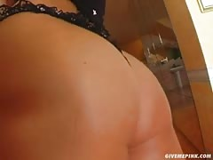 Give Me Pink Karina oils her tits, spreads her cunt and ass
