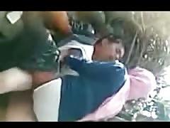 indonesian - hijab girl having outdoor sex
