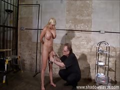 Pussy tortured Melanie Moons busty bdsm and german slave gir