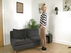 Awesome milf is slowly undressing on cam in the video by Fake Agent