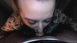 SHHHH! My Mom's Asleep - Quiet Deepthroat Cum Play Outside Her Bedroom Door