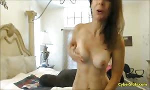 beautiful honey stroking his dick on web cam