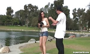 thin youngster Seduced at the Park