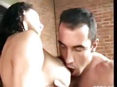Busty shemale fucked by brazilian hunk