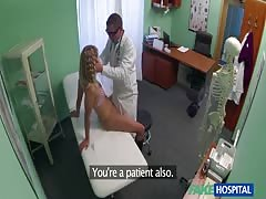 Doctor fucks a hot young blonde in the video by Fake Hospital