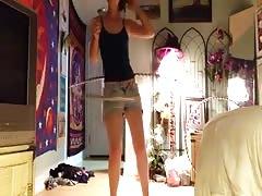 Stripping Naked while Hula Hooping