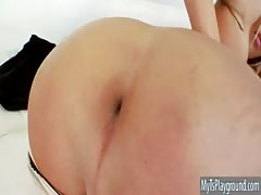 Superb shemale Kimber James anal drilled