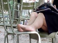 Candid Sexy Nylon Feet in Paris