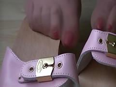 Nylon stockings footsie