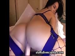 Hot Ass Playing with Dildo Webcam
