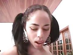 Bitch brushing teeth with cum