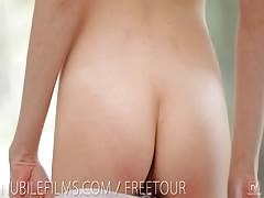 Nubile Films - Hot Russian amateur makes herself cum