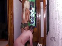 Mistress punished her Arab slave for sniffing her shoes
