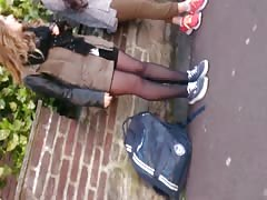 french candid teen pantyhose